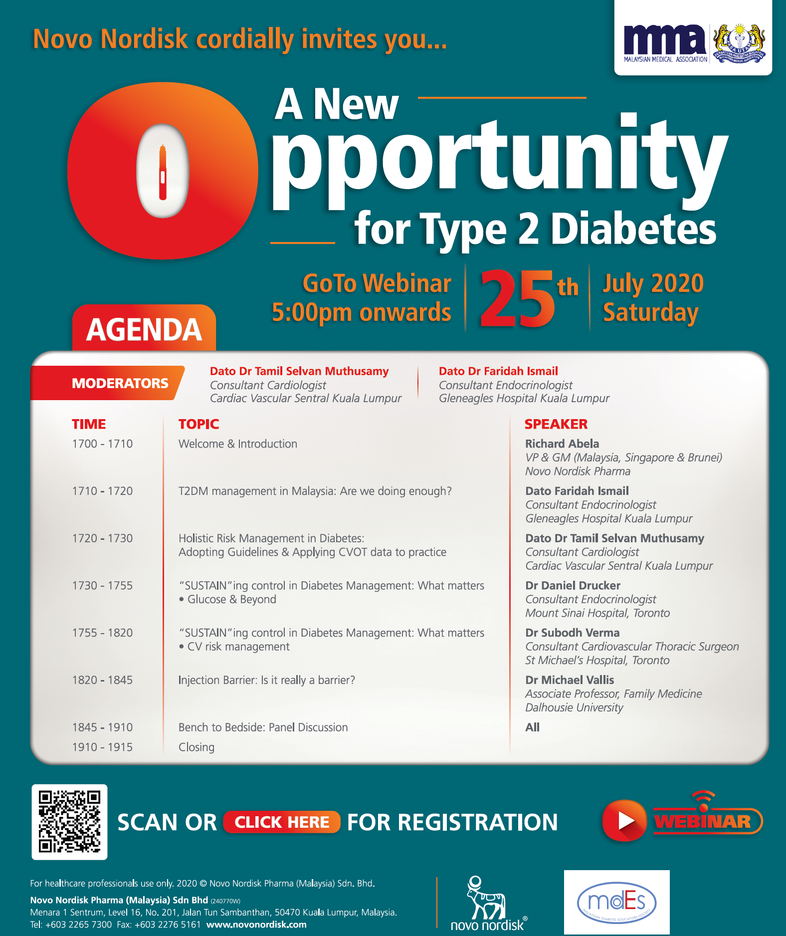 """A New Opportunity for Type 2 Diabetes"" Webinar on 25.7.2020"